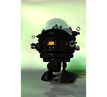Cute Toy Planet Robot Photographic Print