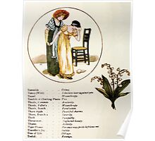 Language of Flowers Kate Greenaway 1884 0044 Descriptions of Specific Flower Significations Poster