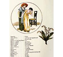 Language of Flowers Kate Greenaway 1884 0044 Descriptions of Specific Flower Significations Photographic Print