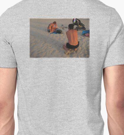 A baby's first beach days Unisex T-Shirt
