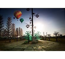 I-city with Hot Balloon Photographic Print