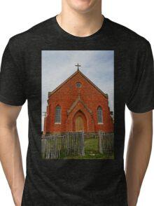 Old Abandoned Church, Hill End Tri-blend T-Shirt