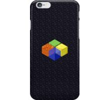 Minecraft Block Microsoft Logo on Obsidian iPhone Case/Skin
