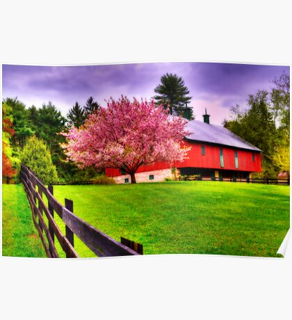 Spring in Clarks Valley-Pennsylvania Poster
