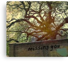 i miss you in the memories we haven't made yet... Canvas Print