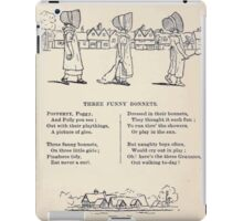 Miniature Under the Window Pictures & Rhymes for Children Kate Greenaway 1880 0021 The Funny Bonnets iPad Case/Skin
