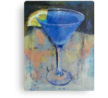Royal Blue Martini Metal Print
