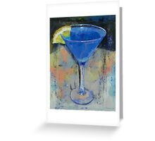 Royal Blue Martini Greeting Card