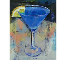 Royal Blue Martini Photographic Print