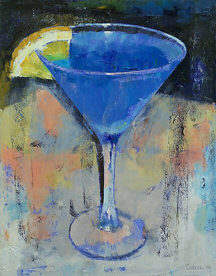 Royal Blue Martini by Michael Creese