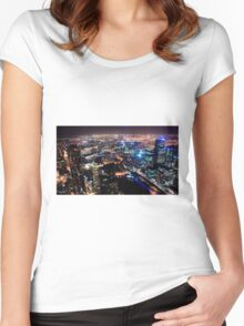 Melbourne night Women's Fitted Scoop T-Shirt