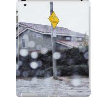 flood warning iPad Case/Skin