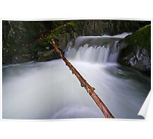 Middle Falls - Honey Hollow Gorge, Preston Brook Poster