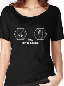 Yes, they're natural. Natural 20s Women's Relaxed Fit T-Shirt