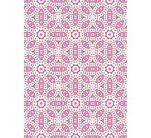 Pink, Green and White Abstract Design Pattern Photographic Print