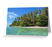 Beach with beautiful tropical vegetation Greeting Card