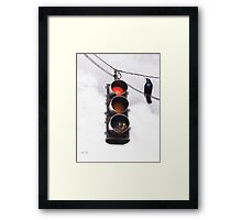 Code Red Framed Print