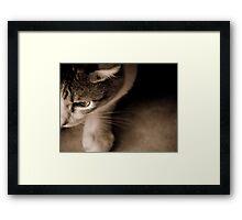 Sepia Toned Loving Framed Print