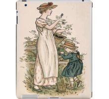 Kate Greenaway Almanack 1893 0026 August Harvesting iPad Case/Skin