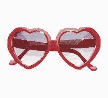 Lolita Heart-Shaped Sunglasses in Watercolor by Vrai Chic