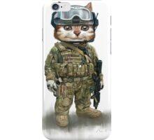 cat the spec ops iPhone Case/Skin