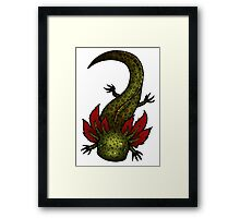 Wild Type GFP Axolotl Framed Print