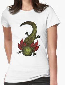 Wild Type GFP Axolotl Womens Fitted T-Shirt