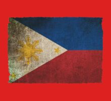 Old and Worn Distressed Vintage Flag of The Philippines Kids Clothes