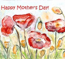 Happy Mother's Day! - Red Poppy by Caroline  Lembke
