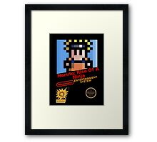 Naruto - NES Cover Framed Print