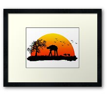 AT-AT. Left to roam free Framed Print