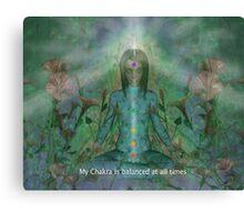 Chakra affirmation Canvas Print