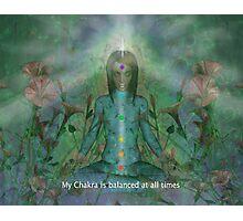 Chakra affirmation Photographic Print