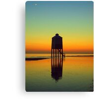 Orangy glow at night Canvas Print