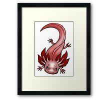 Freckled Leucistic Axolotl Framed Print