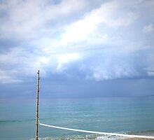 Volleyball Beach, Rincon Puerto Rico - Vertical by Caitlin Connors