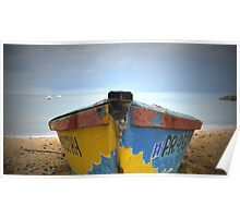 Front Row Boat Storm, Rincon Puerto Rico Poster