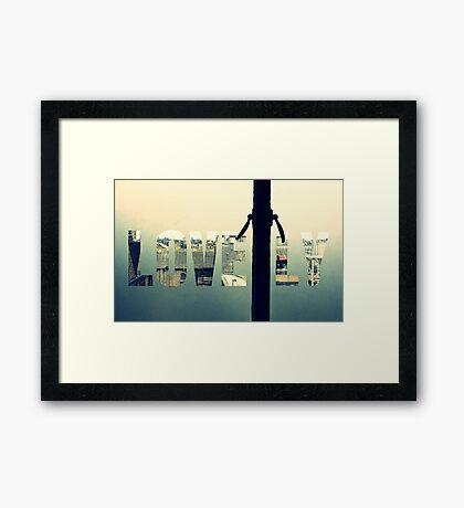 L O V E L Y Framed Print