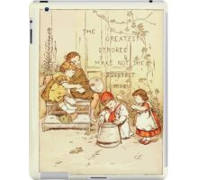 Old Proverbs with New Pictures Lizzie Laweson and Clara Mateaux 1881 0049 The Greatest Strokes Make Not the Sweetest Music iPad Case/Skin