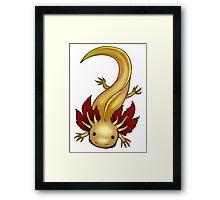 Leucistic GFP Axolotl Framed Print