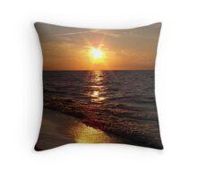 Lake Michigan Sunrise Throw Pillow