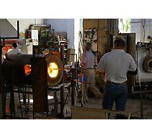 Ornamental Glass making in Malta Photographic Print