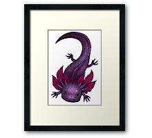 Spotted Lavender Axolotl Framed Print