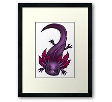 Freckled Lavender Axolotl Framed Print