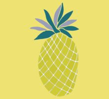 Pineapple Yummy Yellow Summer Fruit Kids Clothes