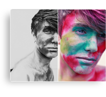 Paint yourself Colourful Canvas Print