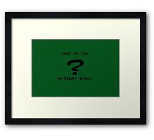 What is the Mystery Shack? Framed Print