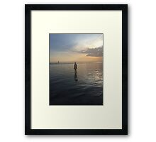 Crosby beach  Framed Print
