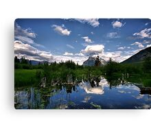Vermillion Lakes, Banff NP Canvas Print