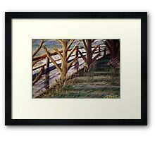 wet day Framed Print